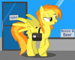 Spitfire going to the store by Spitshy