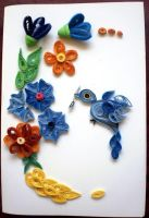 [Handmade card]- Among the flowers by Rajlakshmi