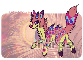[Auction] .:Peacock dragon dog:. by coconuteIIa