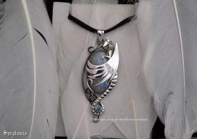 'Moonlight Guardian', sterling silver pendant by seralune