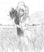 Wheat Fields WIP by Izuma