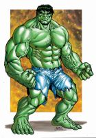 Marvel - Green Hulk by RubusTheBarbarian