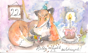 Happy Foxth birthday by Lahara