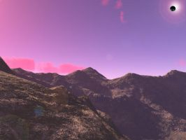 Sunset and tons of rocks 2 by DaisieTheGreat
