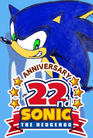 Happy 22nd Anniversary Sonic The Hedeghog!!! by JoonTH