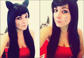 Ahri Make up Test by Dragunova-Cosplay