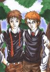 Oliver Wood and Percy Weasley by HotaruYagami