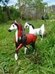 Ghede and Screamer custom commissioned breyer by Carousel-Stables