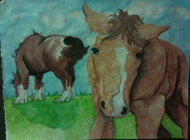 Watercolor Horses by zarhx