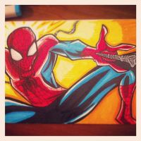 Spiderman Marker Sketch by TrulyEpic