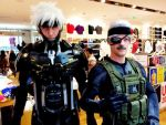 Old Snake Metal Gear Solid 4 and Raiden cosplay by Gollum-net