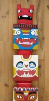 Totem Paintings by creaturekebab