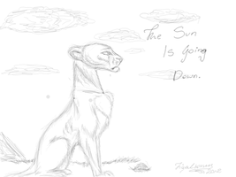 The Sun is Going Down by TigaLioness by TigaLioness