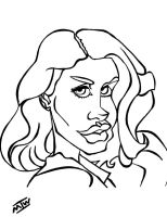 Lana Del Ray Caricature by IkeDaArtist