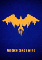 Justice takes wing by Hirgeth