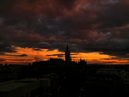 Sunset  at The University of Glasgow by IoannisCleary