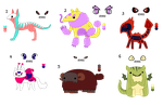 Point Adoptables batch4- open by to-much-a-thing
