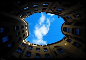Sky in windows. by Bunnis
