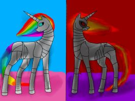Robot Unicorn Attack - 2 Sides by loz-boz01