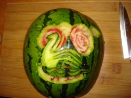 Watermelon carving by fera4462