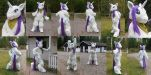 Rarity Fursuit Final by FoxOFWar