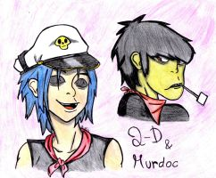 2D and Murdoc -request- by 23-hour-party-people