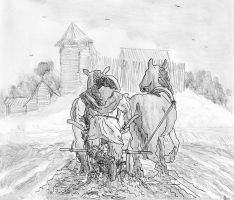 Ploughing into Mud, North-Eastern Europe, XIII c. by FritzVicari