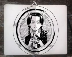 #270 Wednesday Addams by 365-DaysOfDoodles