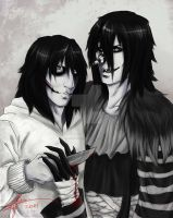 Jeff the Killer and Laughing Jack by The13th-Warrior