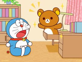 Rilakkuma and Doraemon by Vermeilbird