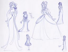 Giselle Costume Sketches by kuabci