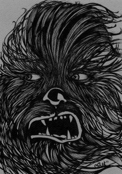 Star Wars- Chewbacca BW Concept by theRealSEA