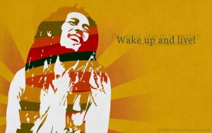 Wake up and live - Bob Marley by Mymy-xoxo