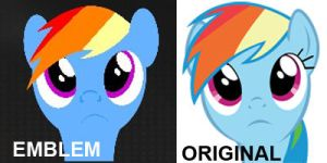 Black Ops 2 Rainbow Dash Emblem (With Comparision) by WizE-KevN