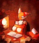 Commission: Working Late by HERthatDRAWS