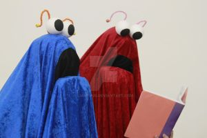 Sesame Street Martians by lianthus