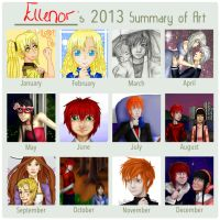 2013 Art Summary by EllenorMererid