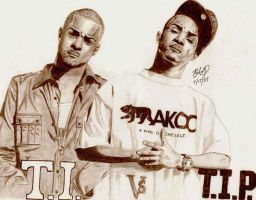 T.I. vs T.I.P. by peachy34