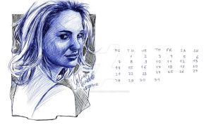 Natalie Portman Ballpoint Pen Calendar MAY by AngelinaBenedetti