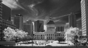 Jefferson Building Infrared by TheBirdsFeathers