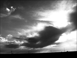 Black and White Clouds 4 by LovelyBPhotography