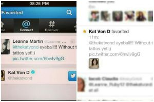 Kat Von D Favorited my drawing on Twitter by ClickedPencils