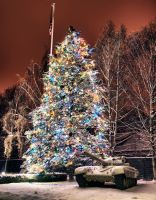 XMas Tree and Russian Tank HDR by Creative--Dragon