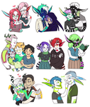 Request Doodles - Round 2 (fluff edition) by IrisHime