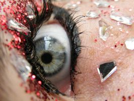 Eye red glitter and glass 3 by music-lover-stock