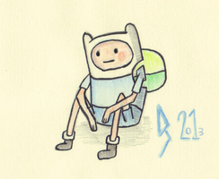 Finn Water Colour by DaveBaldwin3D