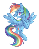 Rainbow Dash by Kajitanii