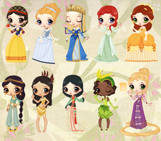 Historical Disney Dolls by cutepiku