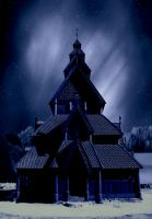 premade 1 wooden church by sometimesnooneknows