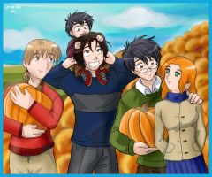 Marauders at the Pumpkin Patch by irishgirl982